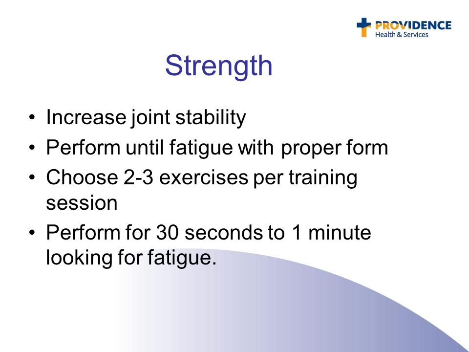 Strength Increase joint stability