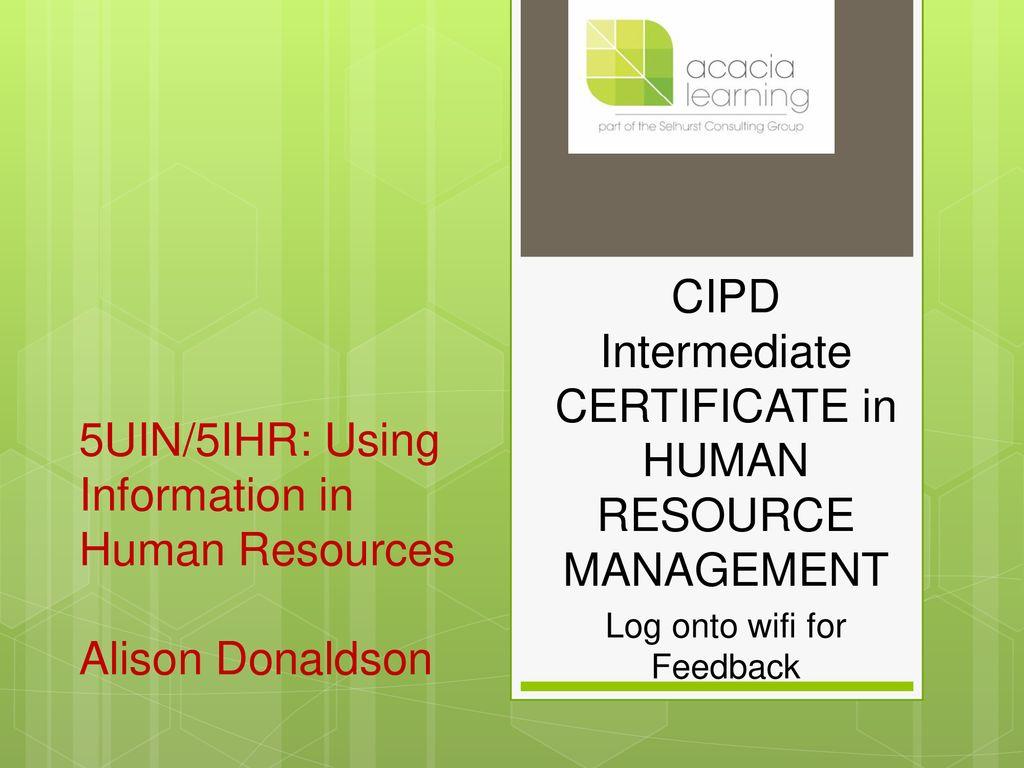 5uin5ihr Using Information In Human Resources Alison Donaldson