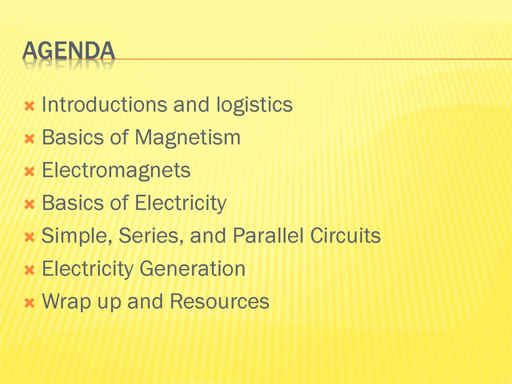 Exploring Electricity And Magnetism Presented By Srp Ppt Download Simple Series Parallel Circuit 2 Agenda Introductions Logistics Basics Of Electromagnets Circuits