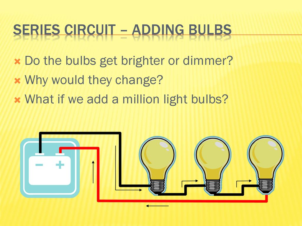 Exploring Electricity And Magnetism Presented By Srp Ppt Download Series Circuit Examples Real Life Added To The Adding Bulbs