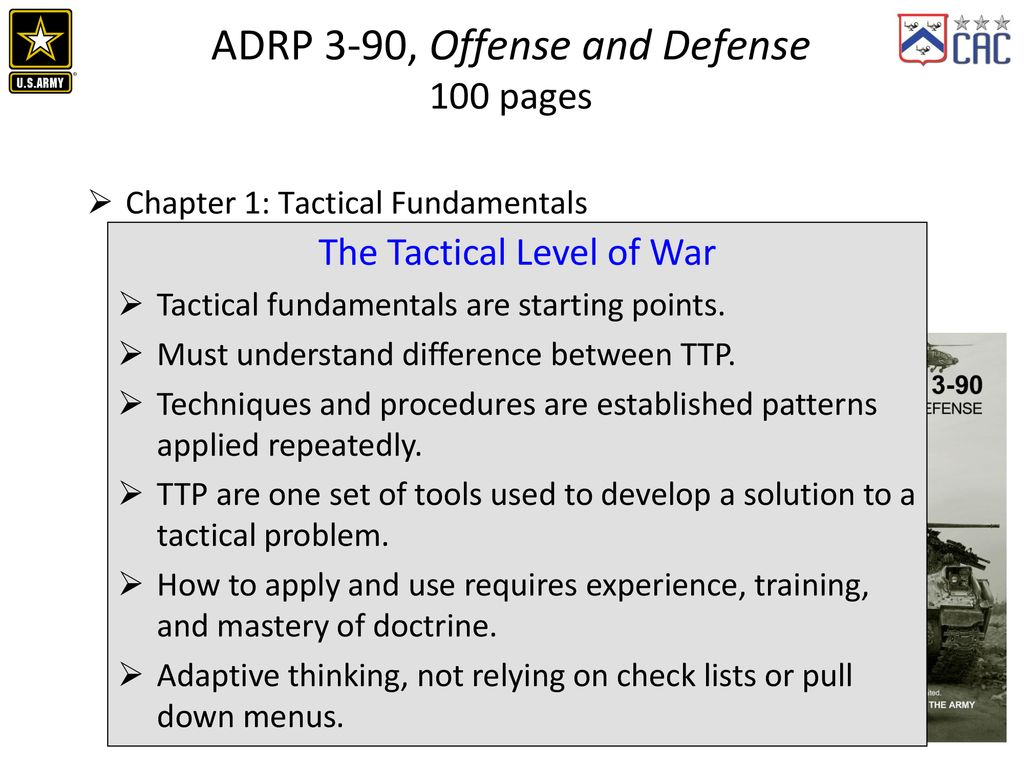 ADP/ADRP 3-90 Offense and Defense Information Brief - ppt download
