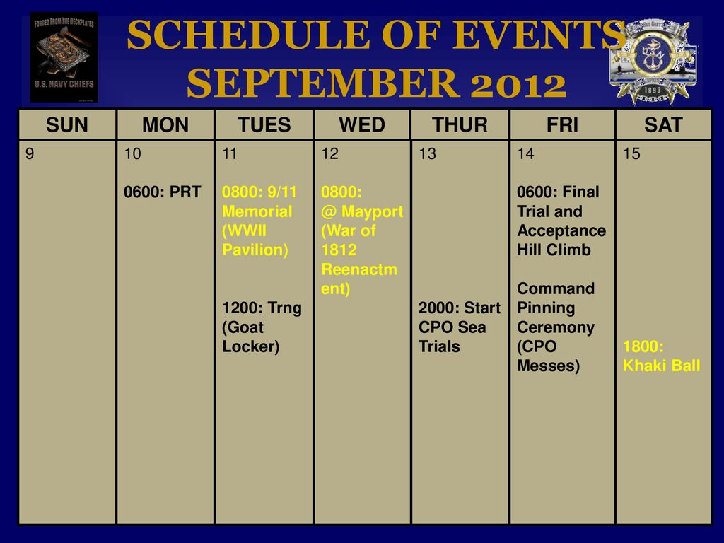 2012 Chief Petty Officer Induction Season - ppt download