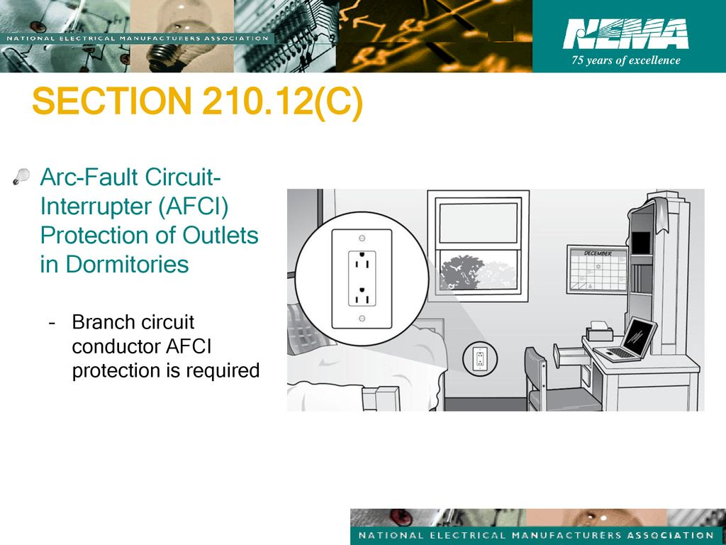2014 Nec Code Changes Pertaining To Wiring Devices Ppt Download Arc Fault Breaker Diagram How Install A Circuit Section C Interrupter Afci Protection Of Outlets
