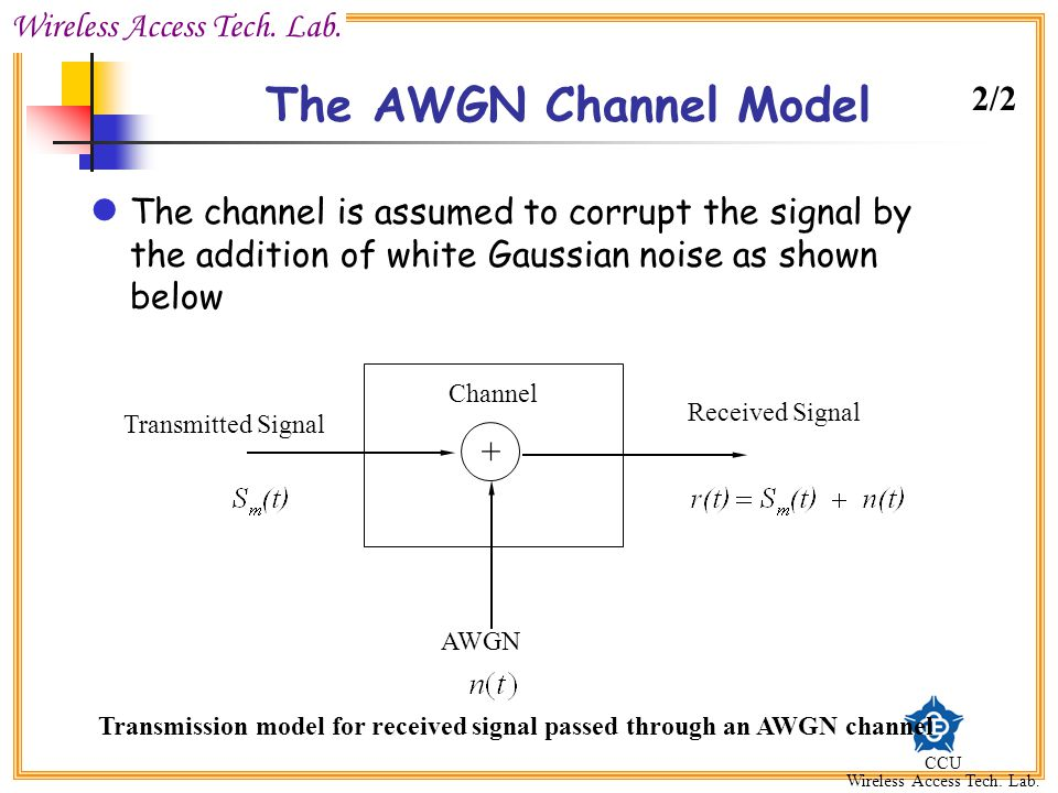 Additive white gaussian noise ppt video online download.