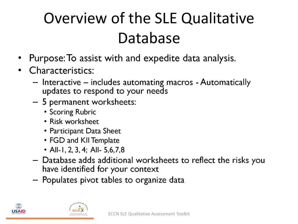 Safer Learning Environments Qualitative Assessment Tool - ppt download