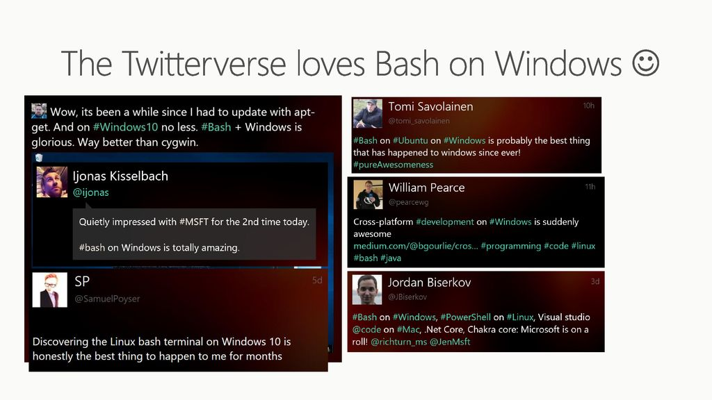 Improvements to Bash on Windows and the Windows Console