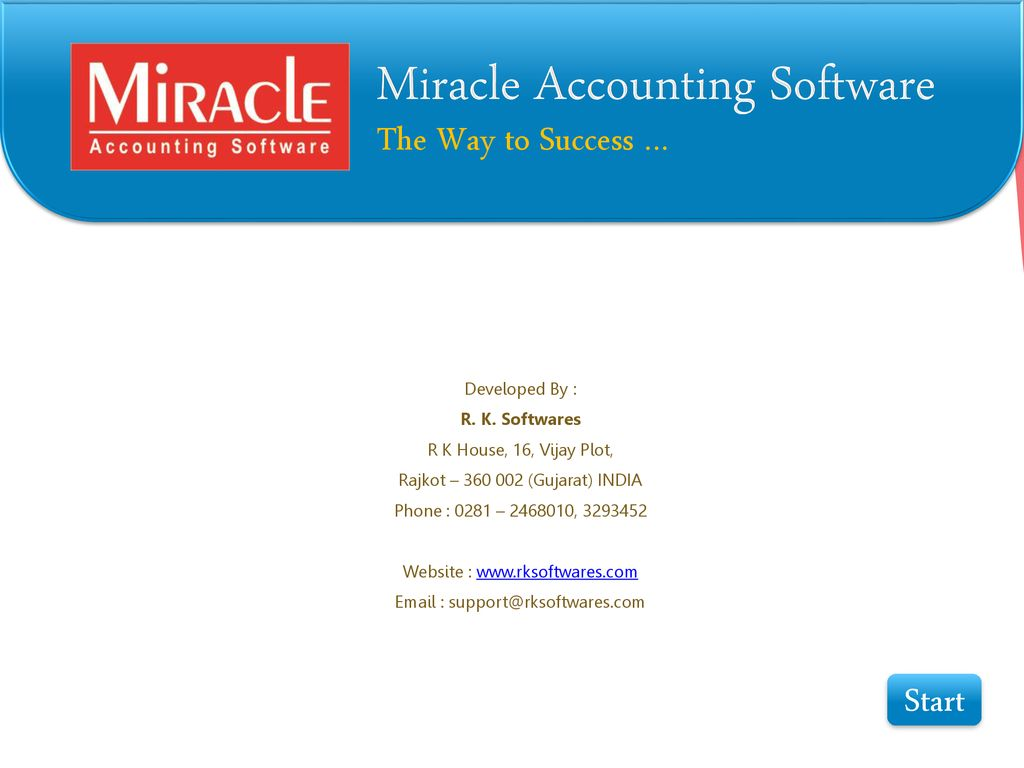 Miracle Accounting Software - ppt download