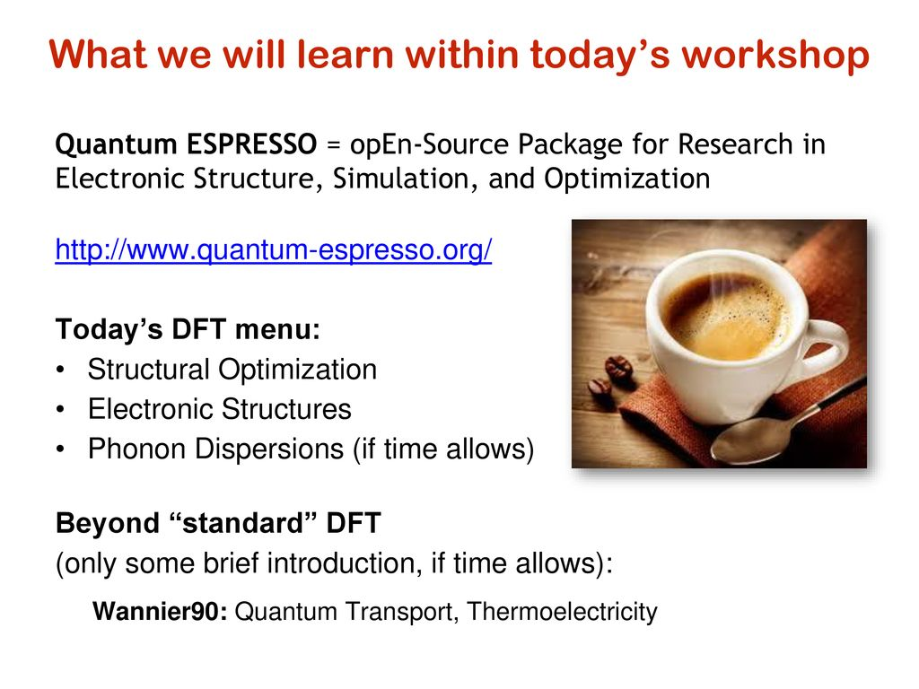 Introduction to Quantum ESPRESSO and Computer System - ppt