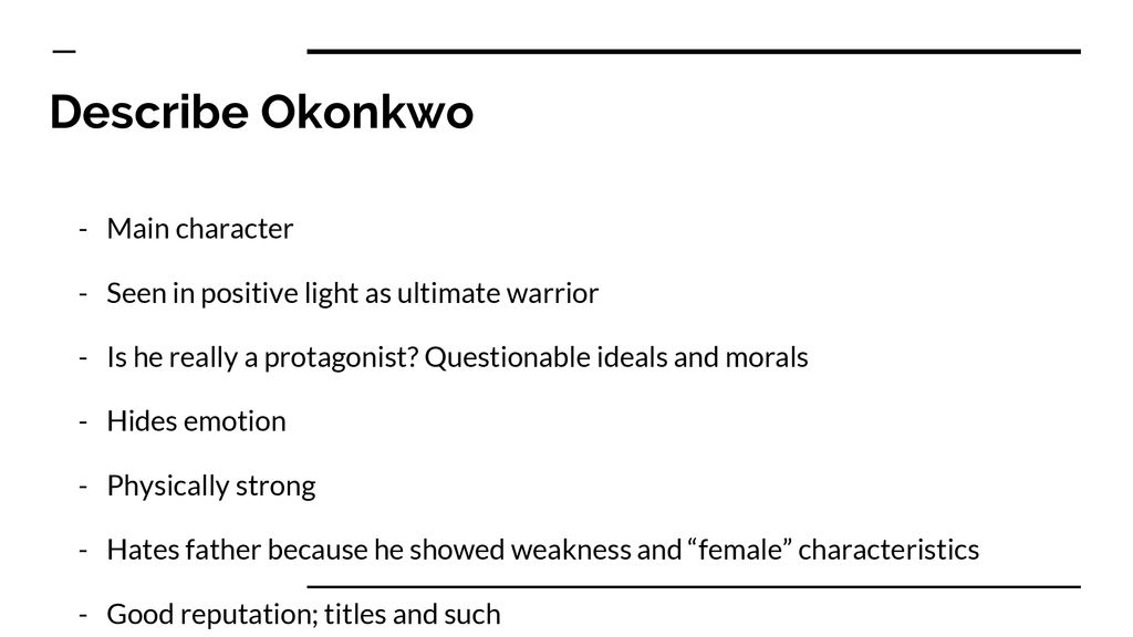 okonkwo character