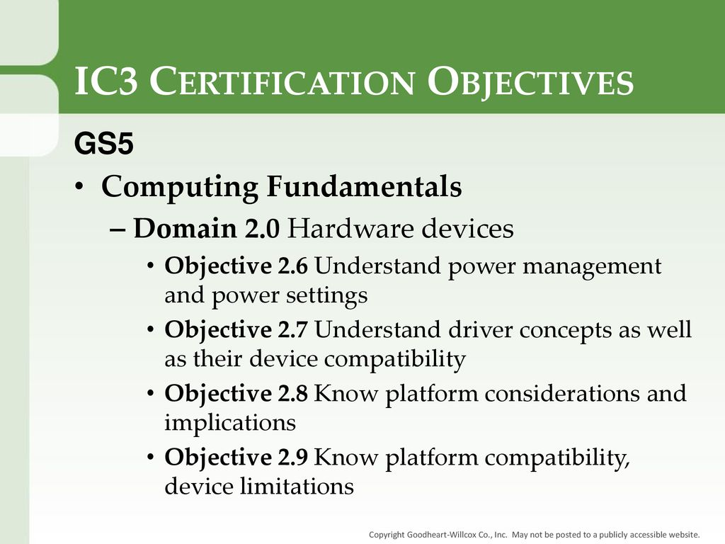 Chapter 3 Software Chapter 3 Software Ic3 Certification Objectives