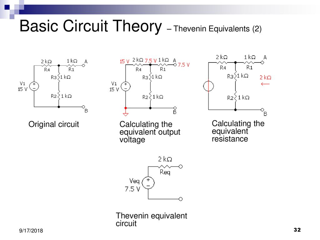Delaware Science Olympiad Shock Value Circuit Lab Workshop Ppt Air Conditioning Control Panel Basiccircuit Basic Theory Thevenin Equivalents 2
