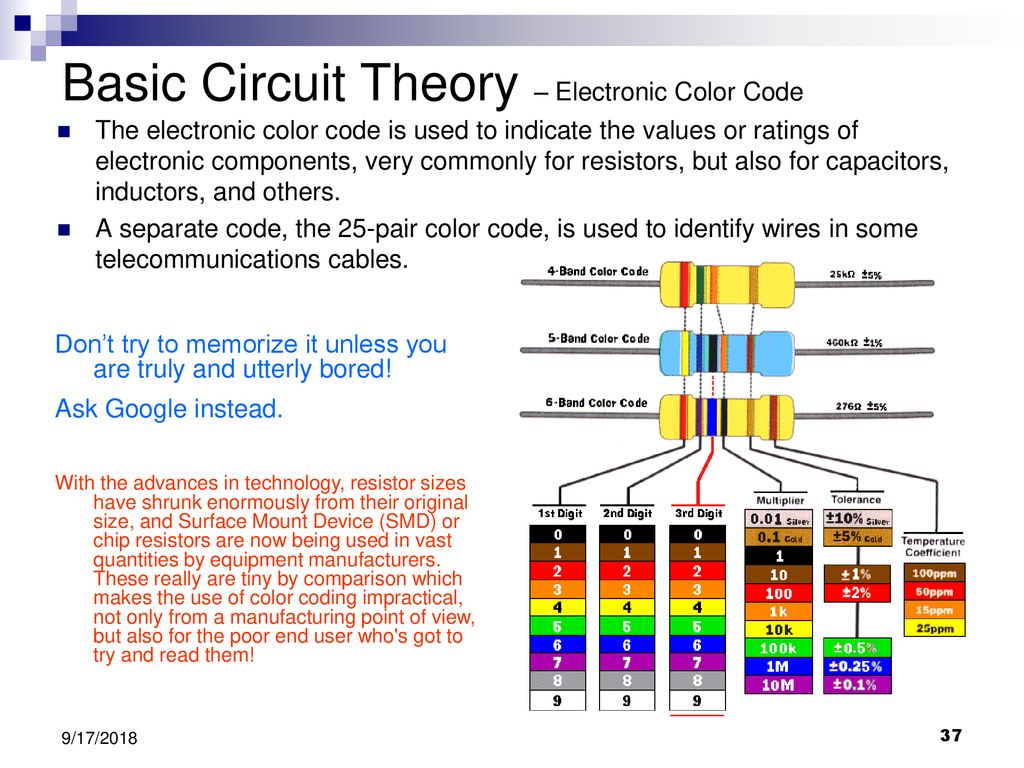 Delaware Science Olympiad Shock Value Circuit Lab Workshop Ppt Electrical Theory The Concept Of Wiring In Parallel And Basic Electronic Color Code