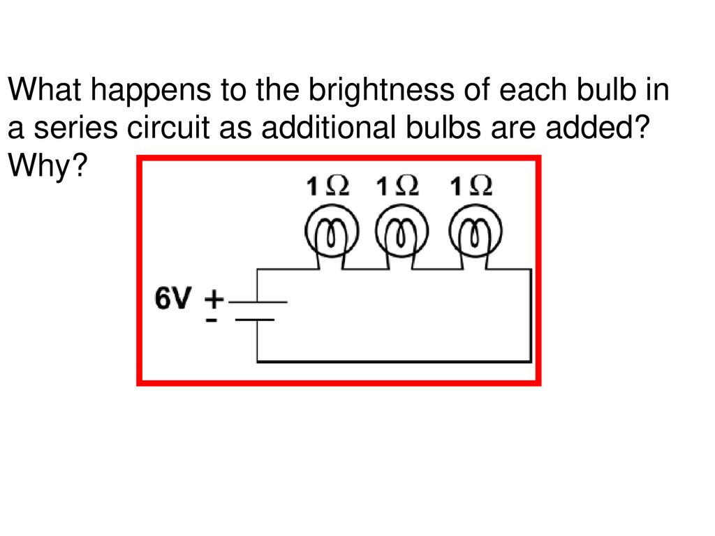 Electricity Ppt Download Bulbs In Series Circuit 48 What Happens To The Brightness Of Each Bulb A