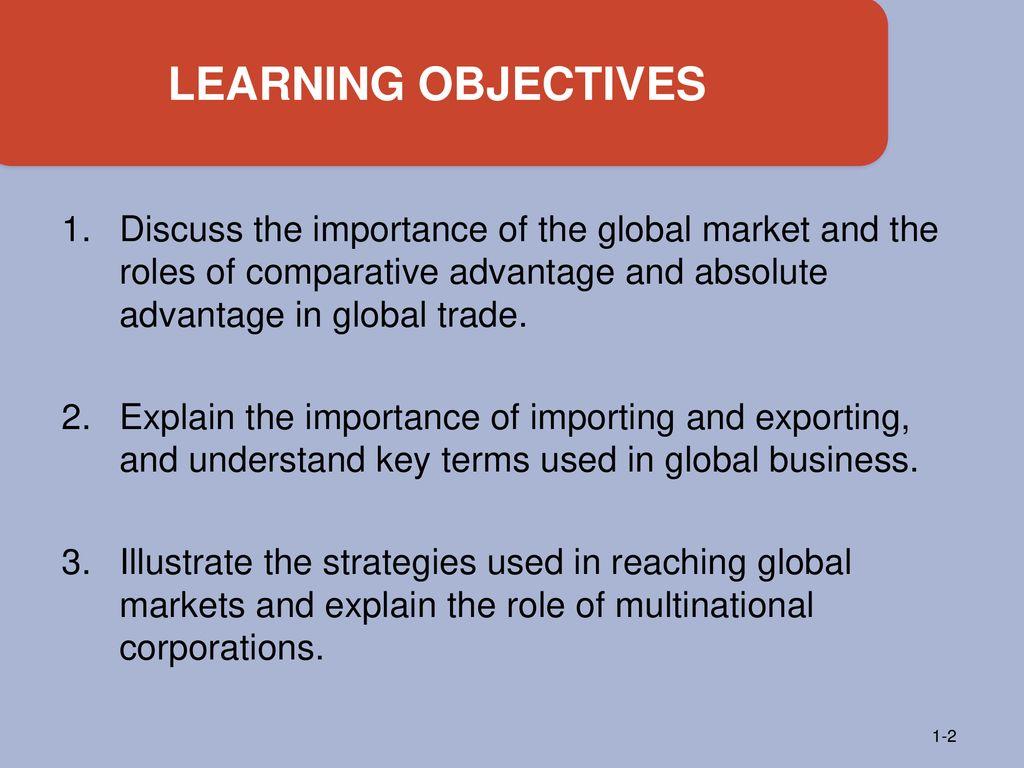 importance of comparative advantage