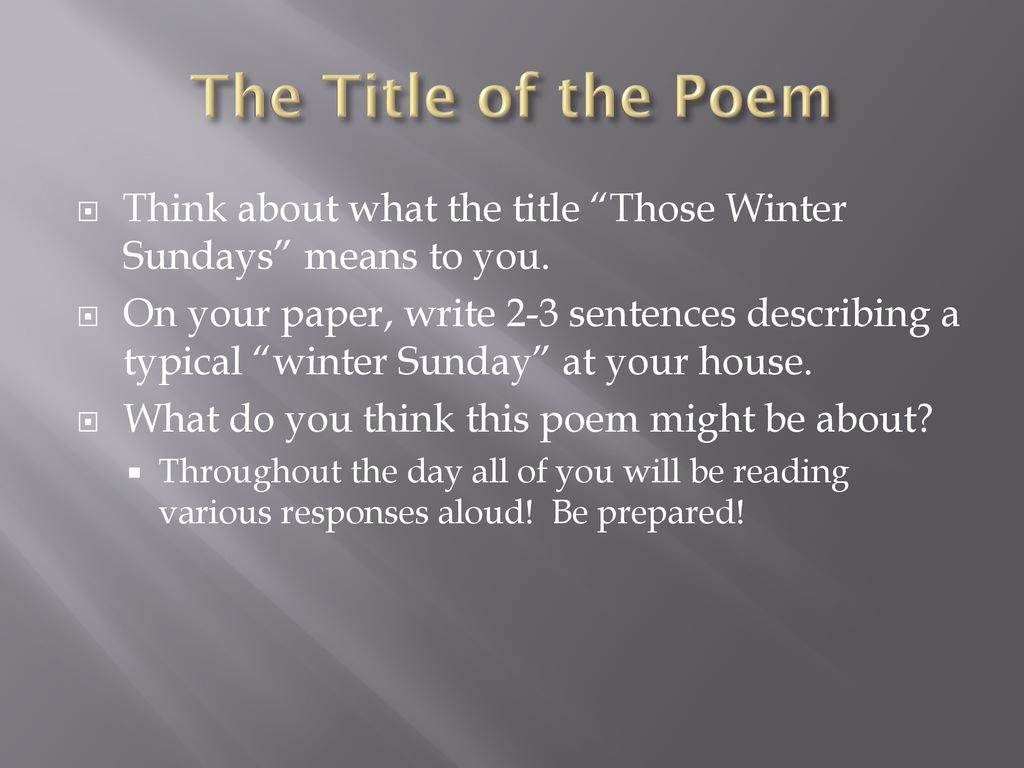 what is the poem those winter sundays about