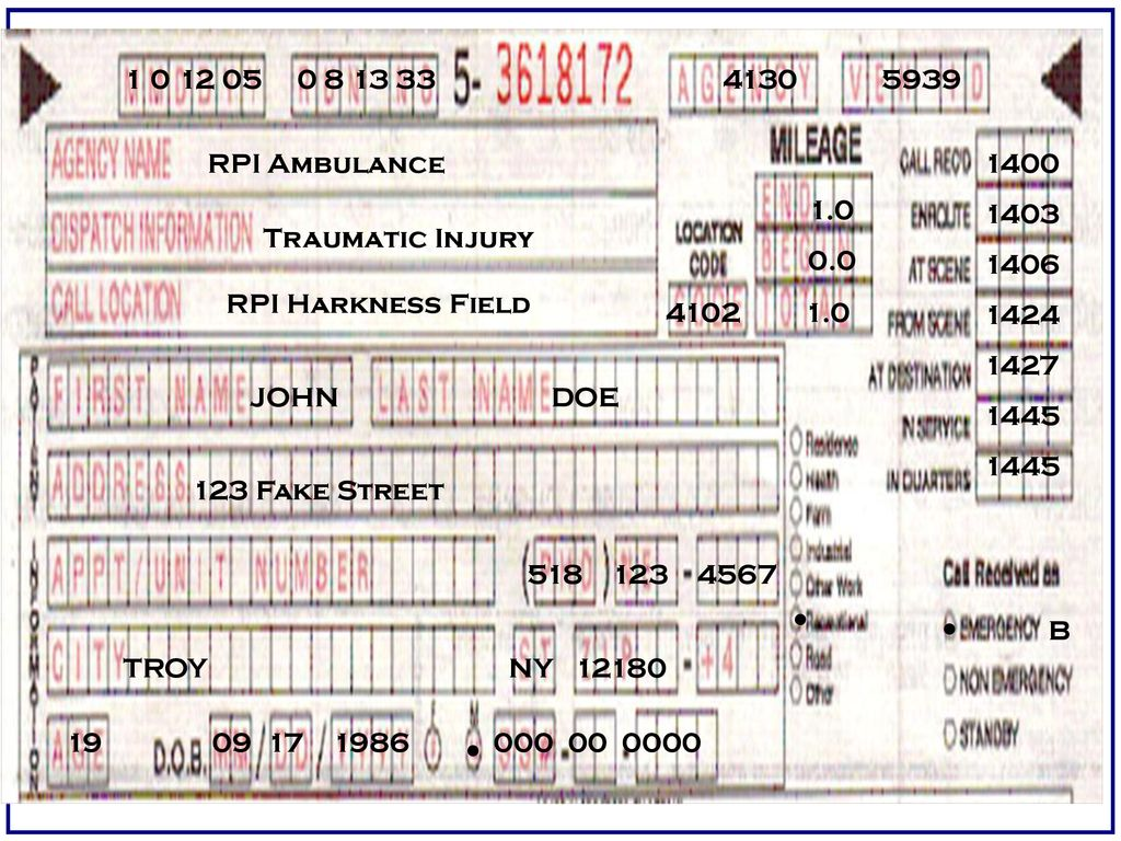RPI AMBULANCE CREW CHIEF CLASS Fall ppt download