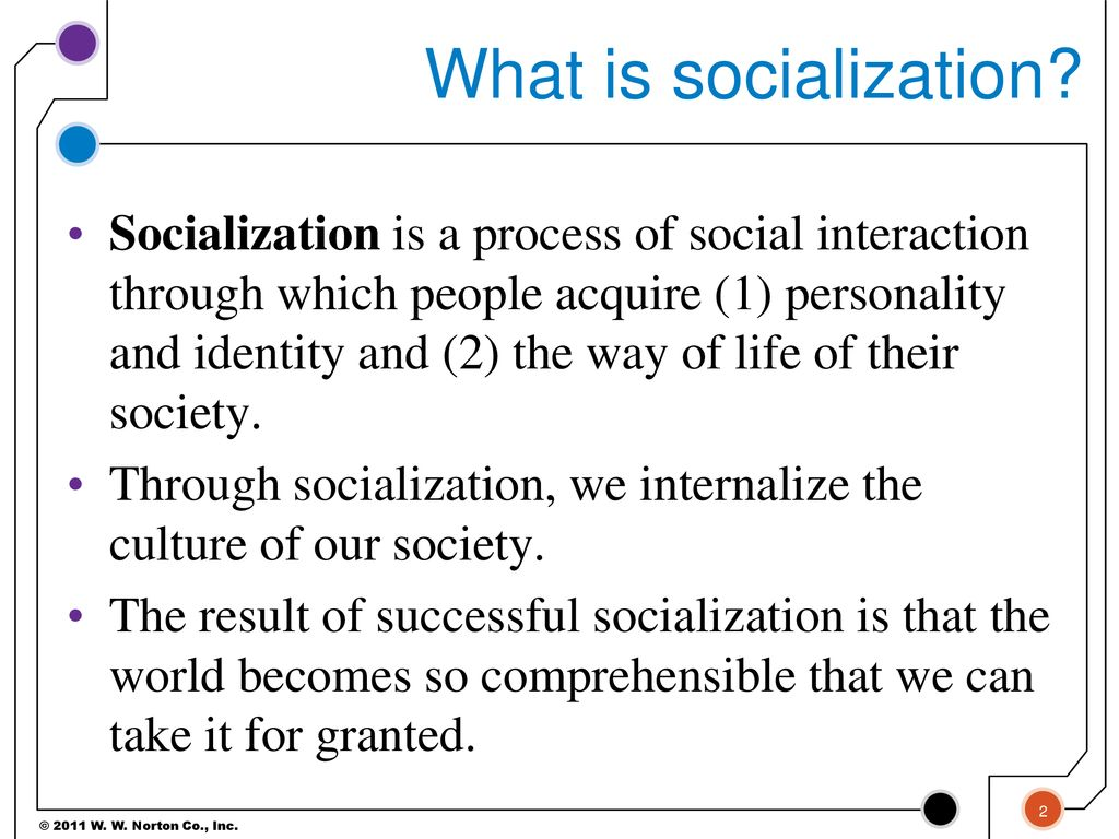 What is socialization