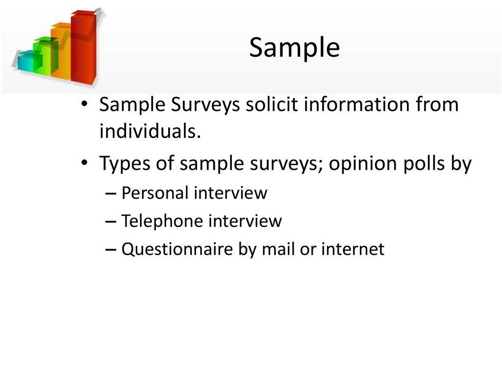 sample surveys chapter ppt download