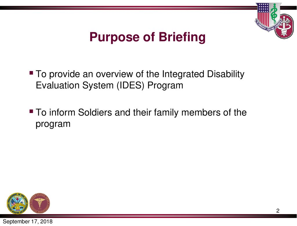 integrated disability evaluation system ides briefing for soldiers