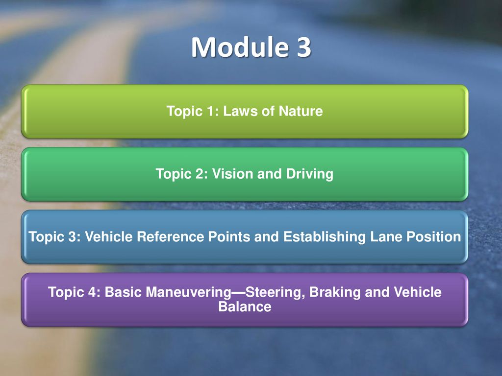 module 3 drivers ed workbook