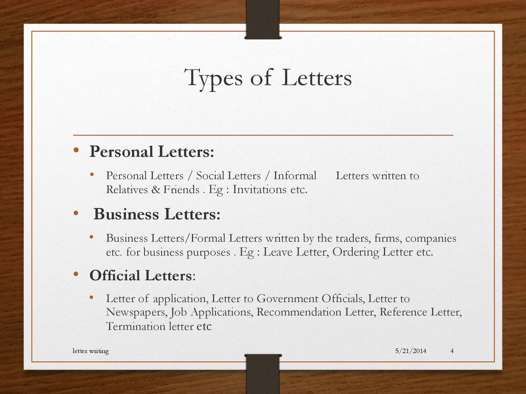 Types Of Letter Writing from slideplayer.com