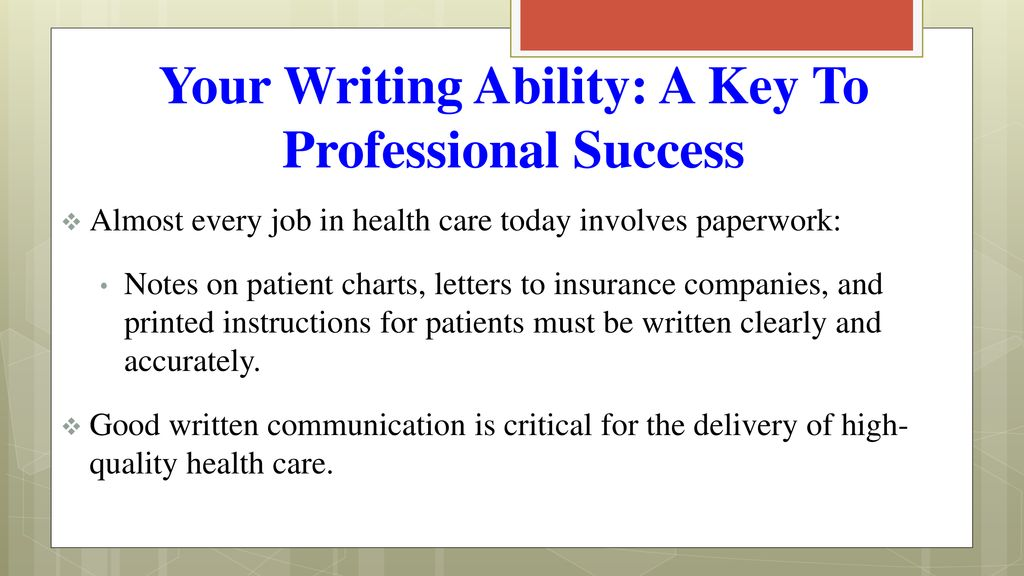 Objectives Explain why it is important for health care
