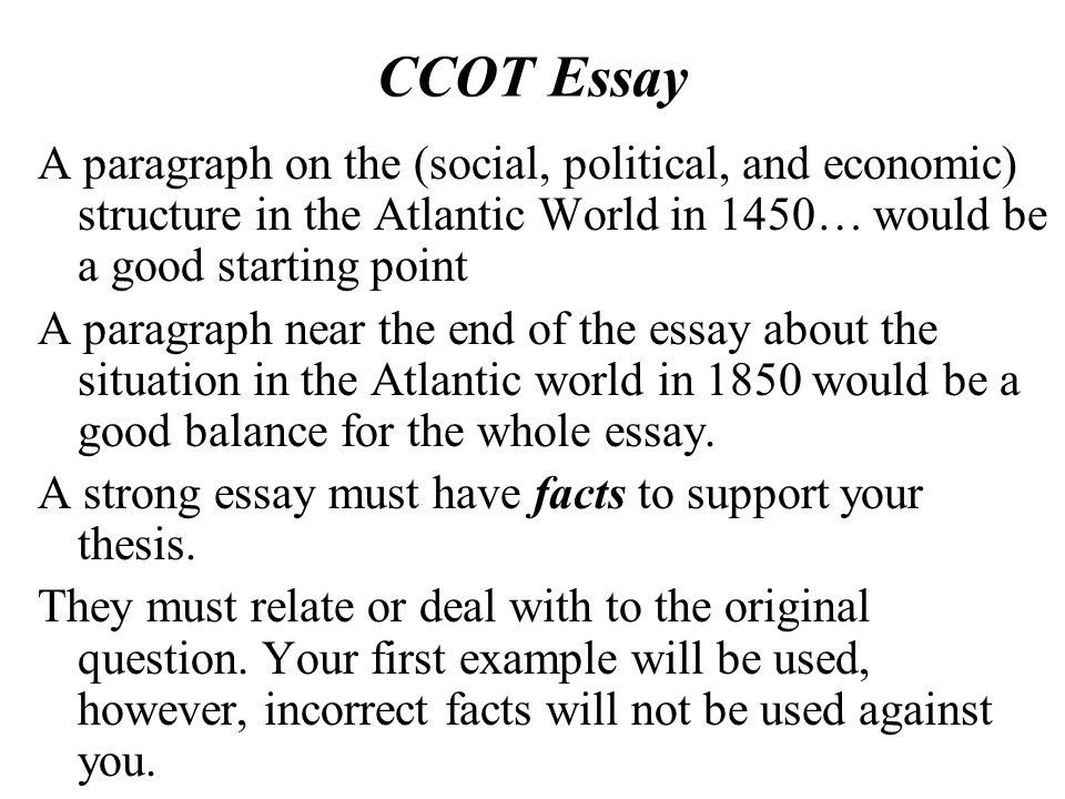 Continuity and Chang-Over-Time Essay - ppt download