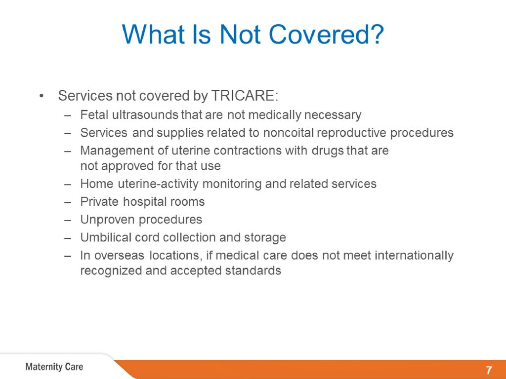 TRICARE Maternity and Newborn Care - ppt download
