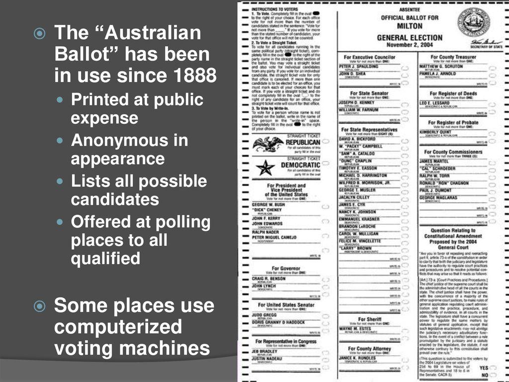 the australian ballot