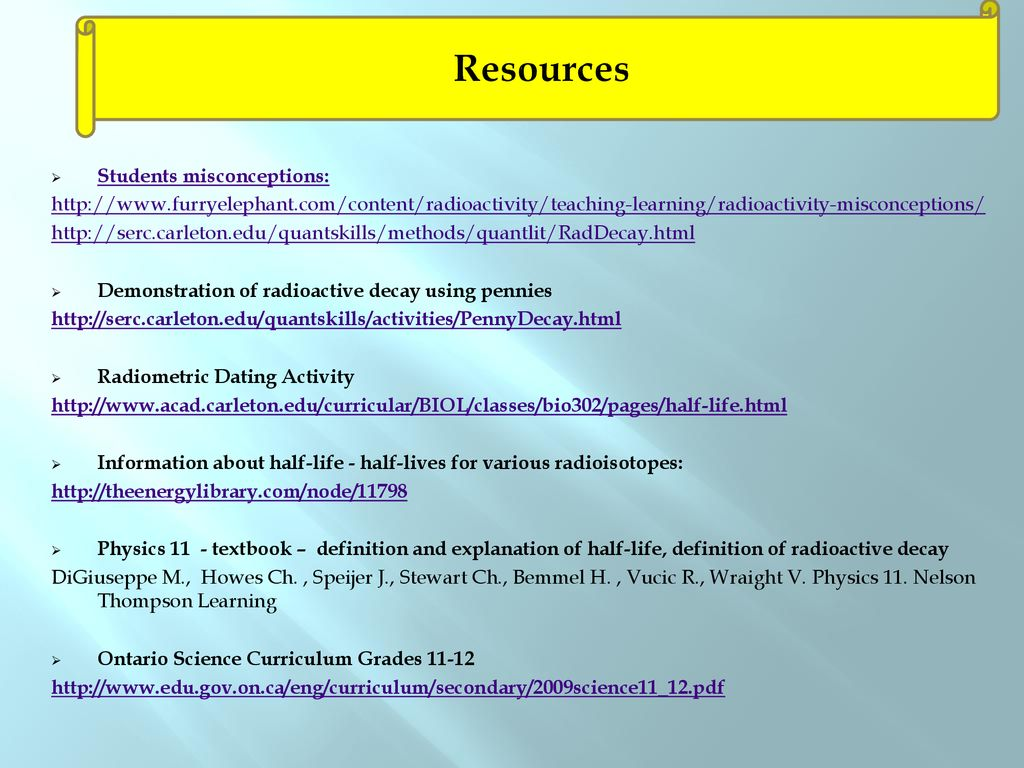 Teaching the Concept of Half-Life - ppt download