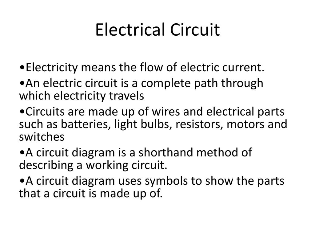 Electricity Notes Chapter Ppt Download Circuit Diagrams 17 Electrical