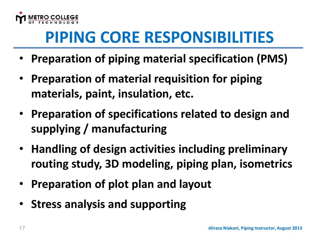 Fundamentals Of Process Plant Piping Design Ppt Download Layout Consultants 17 Core Responsibilities