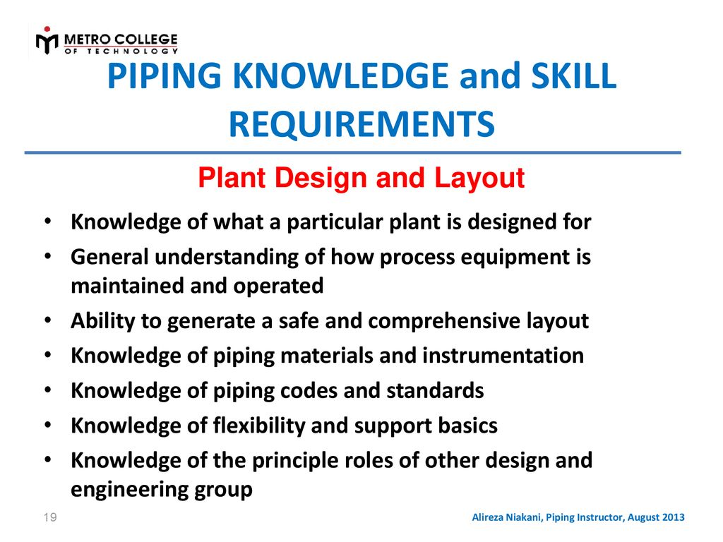 Fundamentals Of Process Plant Piping Design Ppt Download Layout Requirements 19 Knowledge