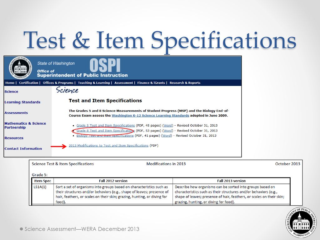 Next Generation Science Science Assessment Updates - ppt