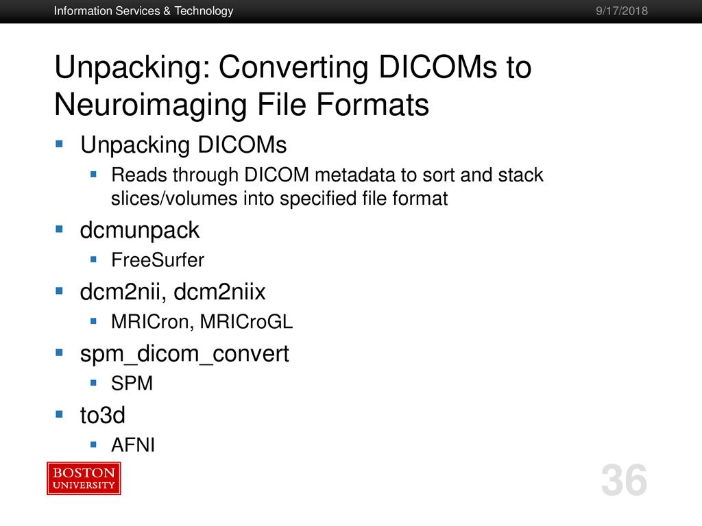Neuroimaging on the Shared Computing Cluster (SCC) - ppt download