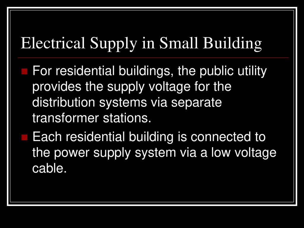 53 Building Electrical Supply Ppt Download Residential Low Voltage Wiring 3