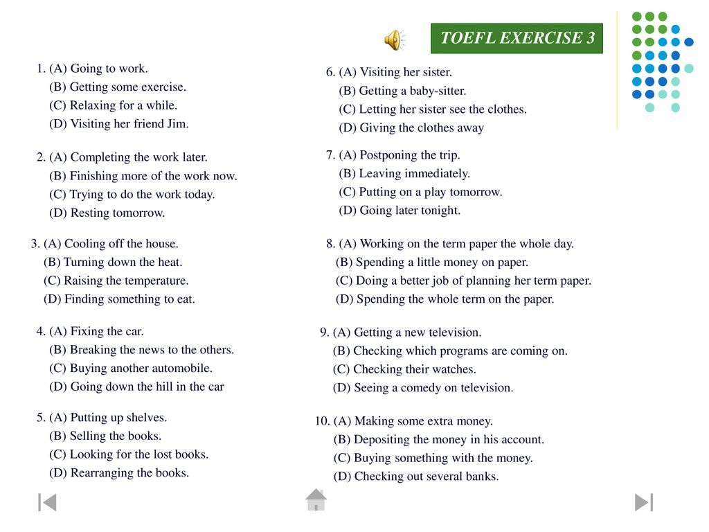 photograph regarding Toefl Exercises Printable known as Listening Being familiar with Aspect - ppt obtain