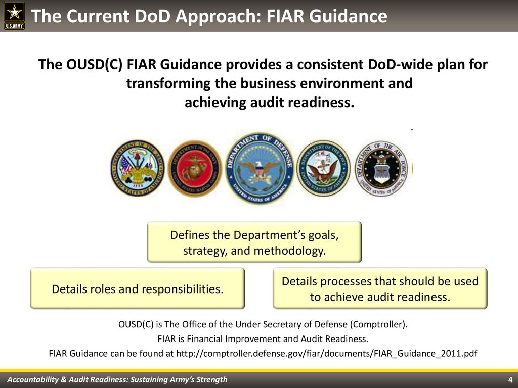Army Audit Readiness Overview - ppt download