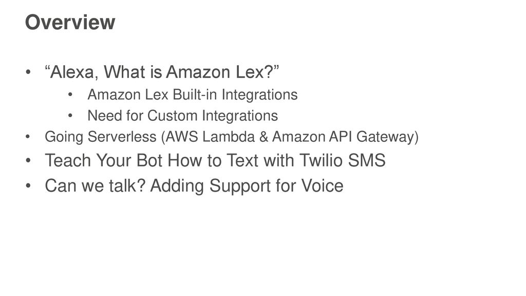 Integrate Your Amazon Lex Chatbot with Any Messaging Service