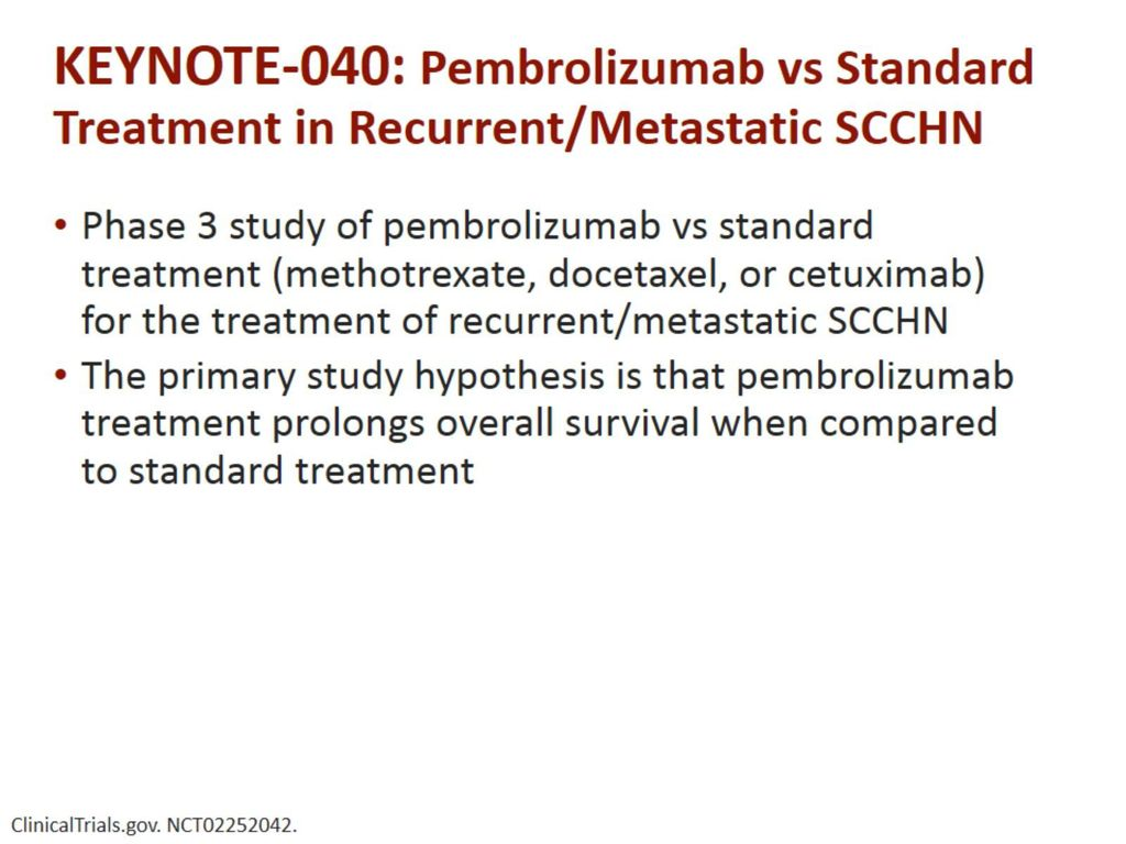 Evolving Paradigms in Recurrent/Metastatic SCCHN - ppt download