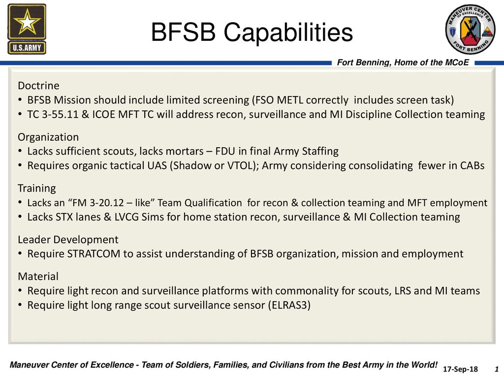 BFSB Capabilities Doctrine - ppt download