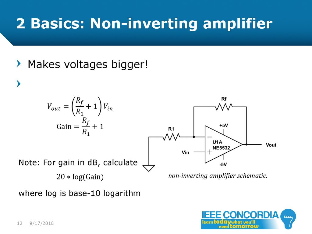 Intro To Analog Audio Electronics Ppt Download Gain Amplifier Schematic Diagram The Voltage Controlled Variable 2 Basics Non Inverting