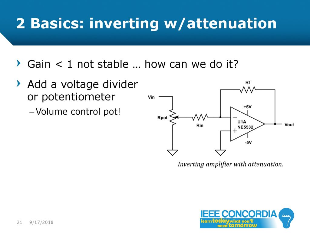 Intro To Analog Audio Electronics Ppt Download Voltage Controlled Variable Gain Amplifier 1 21 2