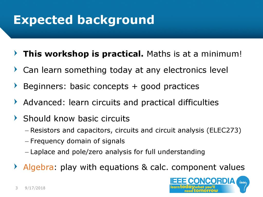 Intro To Analog Audio Electronics Ppt Download Electronic Circuit Analysis Johnson 3 Expected Background