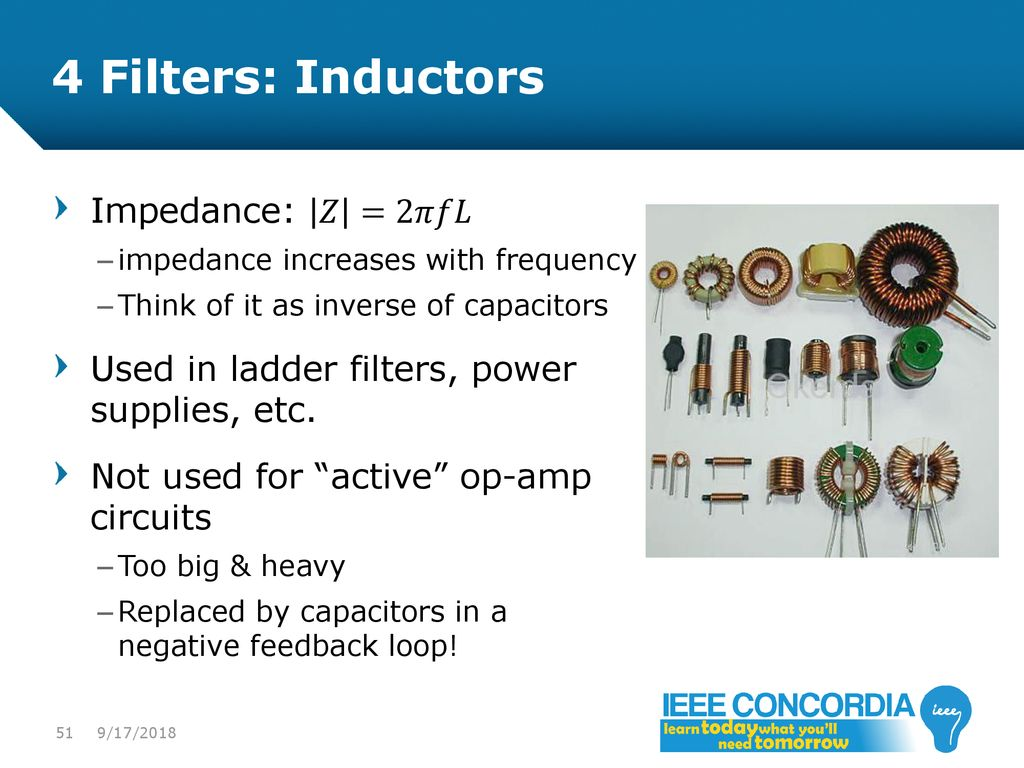 Intro To Analog Audio Electronics Ppt Download Circuits Bridge Electronic Filter Topology Image Impedance 4 Filters Inductors 2