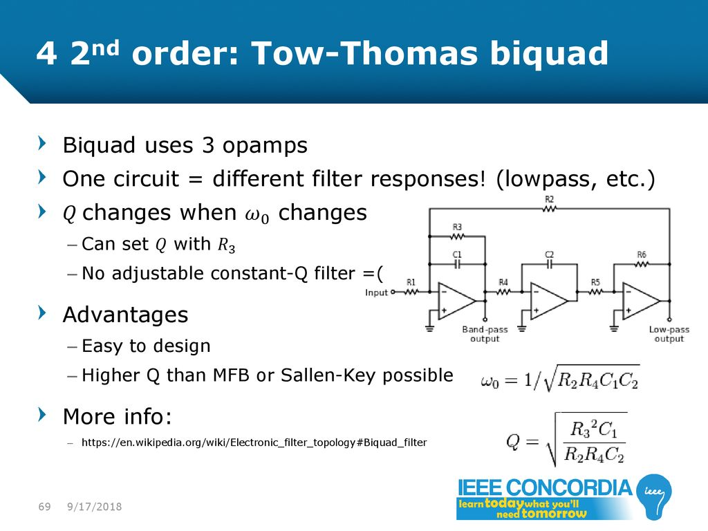 Intro To Analog Audio Electronics Ppt Download High Pass Single Supply Sallen Key Filter Circuit Schematic Diagram 4 2nd Order 69