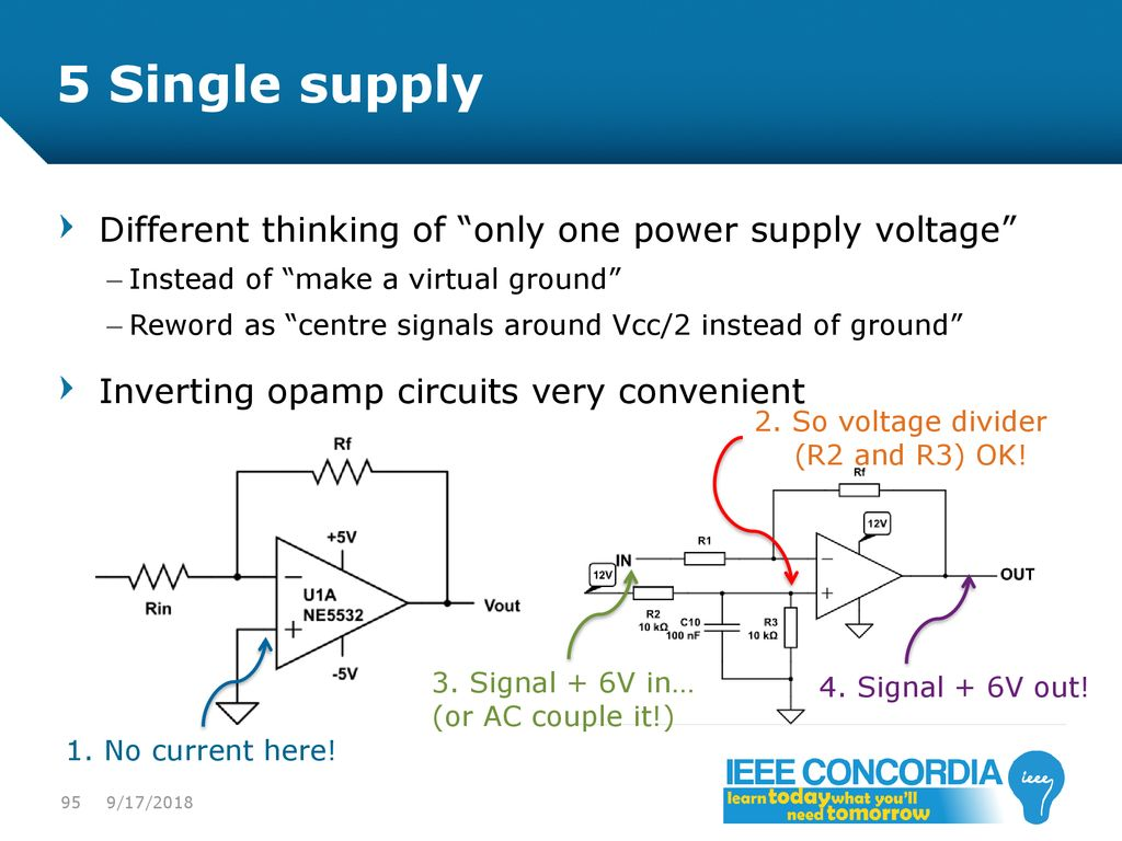 Intro To Analog Audio Electronics Ppt Download Voltagecontrolledstatevariablefilter Powersupplycircuit 5 Single Supply Different Thinking Of Only One Power Voltage