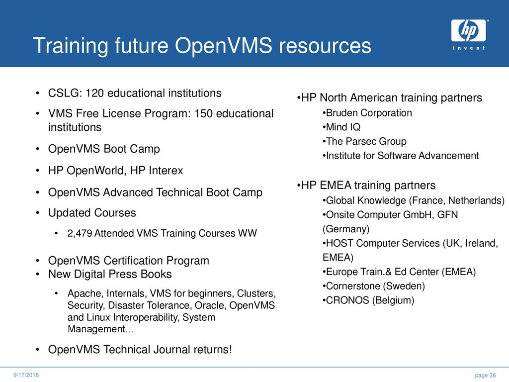 Free openvms training