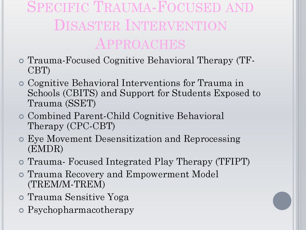 cognitive behavioral intervention approach