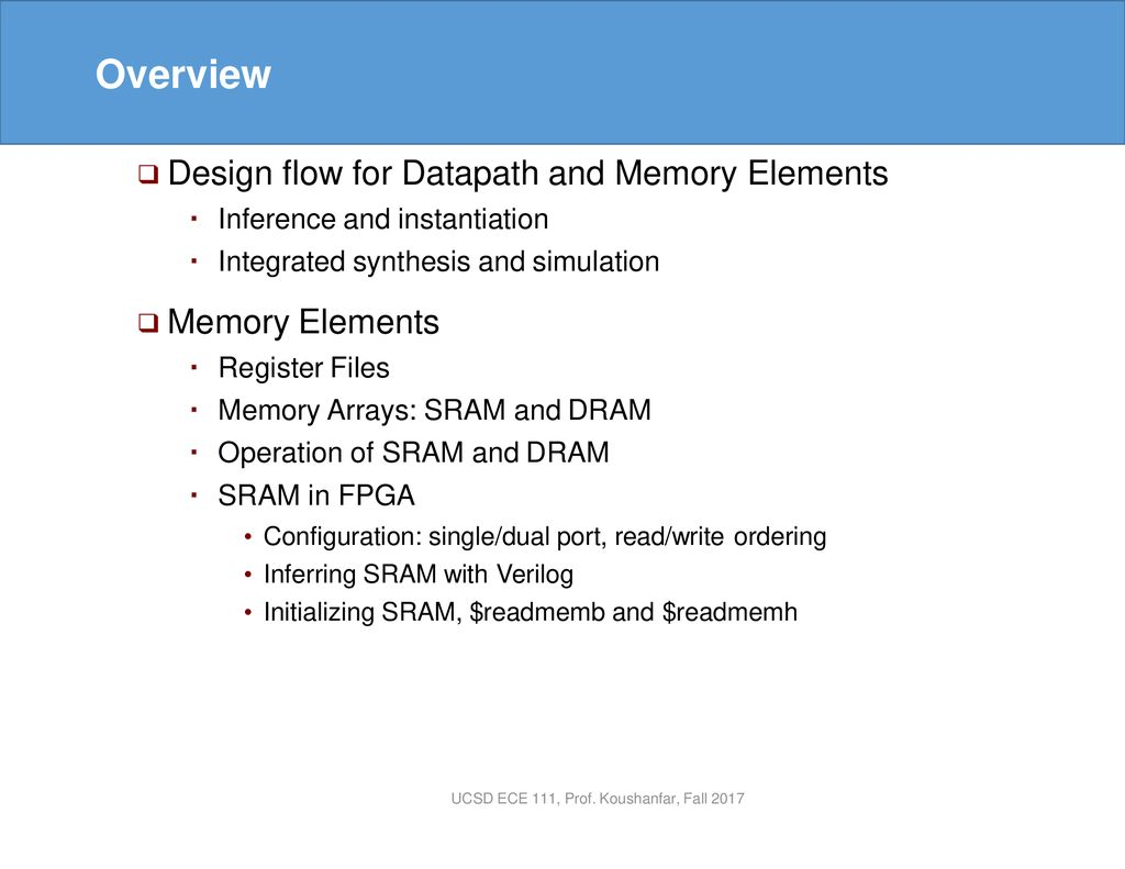 Lecture 15: Synthesis of Memories in FPGA - ppt download